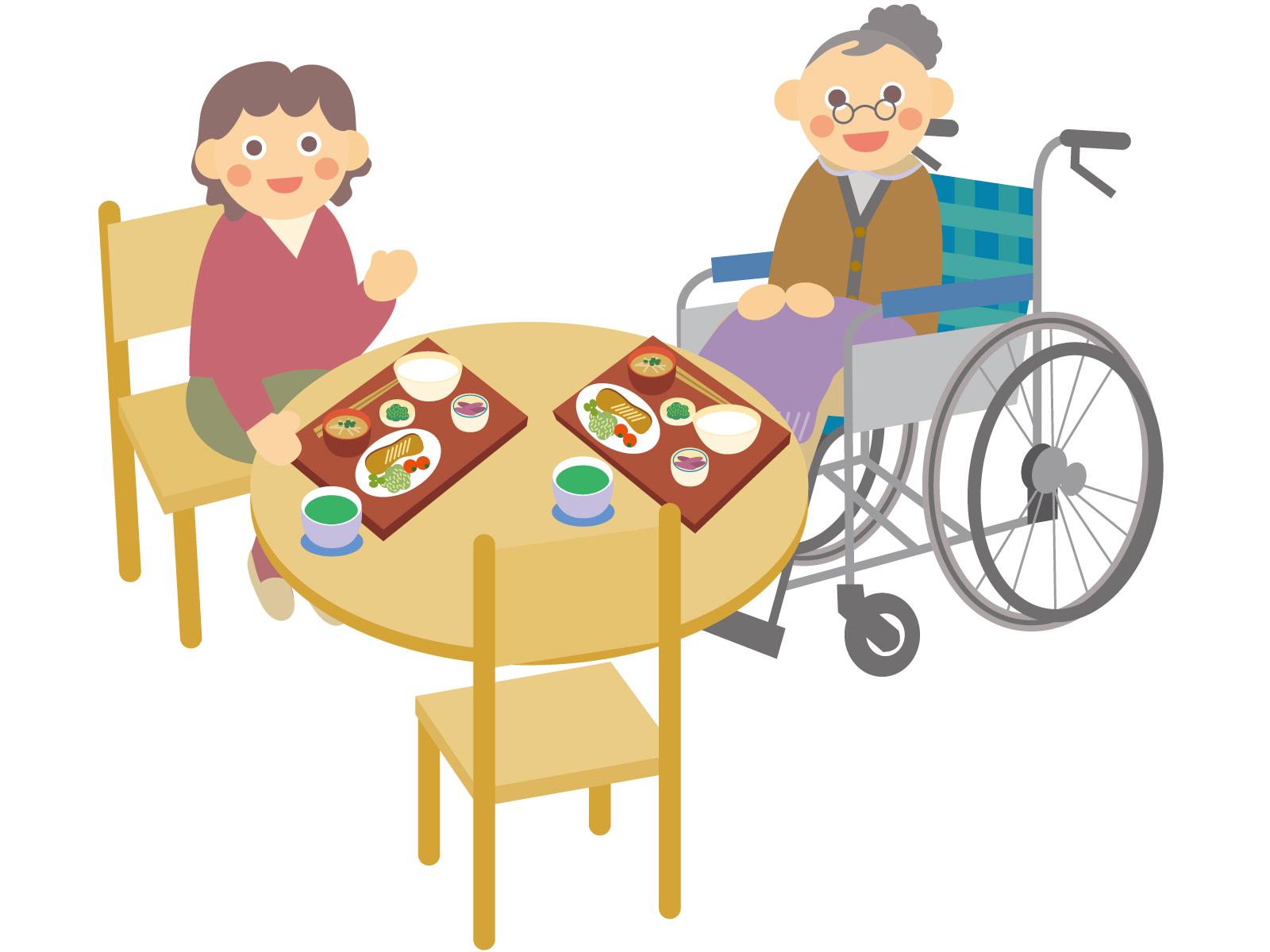 自力で食事を食べない認知症の人への対応。席を変えるだけで大きく変化