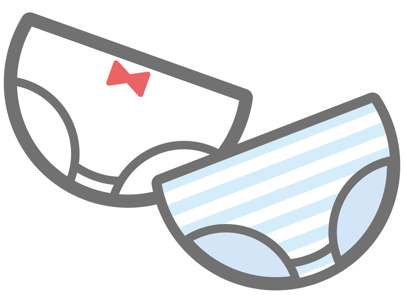 失禁で汚れた服を隠してしまう認知症の人の対応。蓋付きの容器を用意